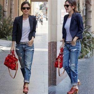 AG Adriano Goldschmied Ex-Boyfriend Crop Jeans 25